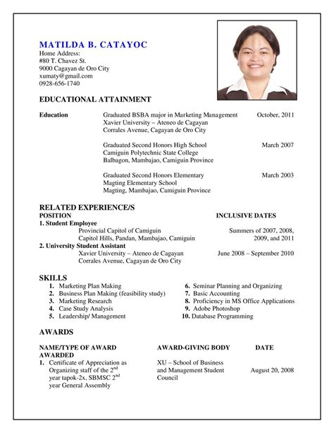 To Make A Resume On Microsoft Word by Resume Template How To Make Cv Or In Hindiurdu