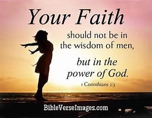 Faith Bible Verse - 1 Corinthians 2:5 - Bible Verse Images