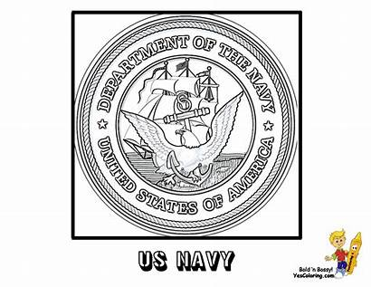 Coloring Pages Navy Flag Ship Seal American