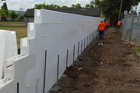 foam concrete forms for retaining walls h forms build beautiful free standing and retaining walls
