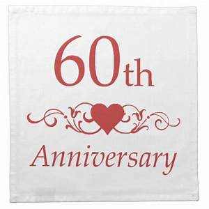 60th wedding anniversary napkins zazzle for What to give for 60th wedding anniversary