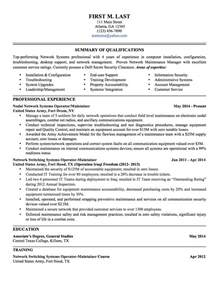 To Civilian Resume Template by To Civilian Resume Lifiermountain Org