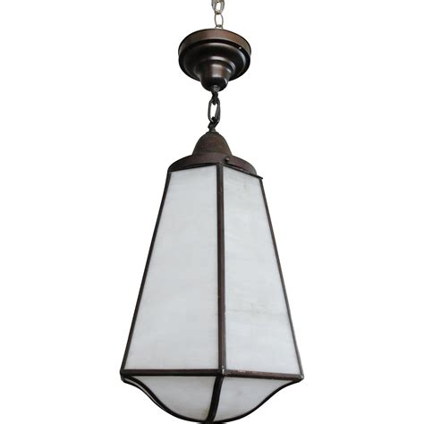 vintage mission style hanging light fixture from