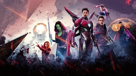 avengers infinity war poster  laptop full hd