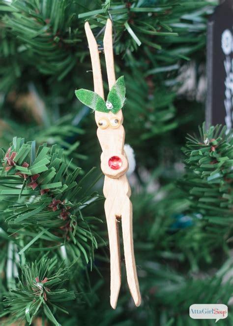 diy reindeer clothespin ornaments tgif  grandma  fun