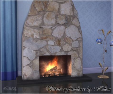 stone fireplace  helen sims sims  updates