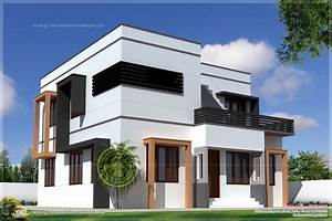 Square Feet Modern Villa Exterior Kerala Home Design Floor