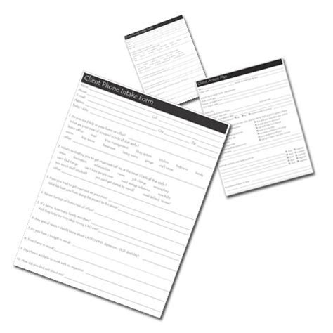 Professional Organizer Contract Template by Client Phone Intake Form 5 Essential Client Forms For
