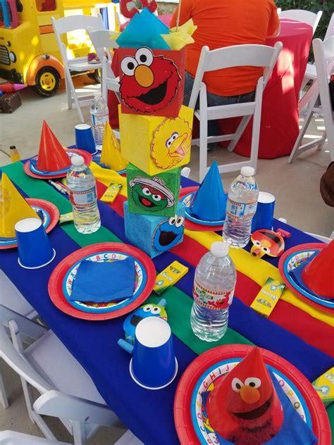 sesame street centerpieces elmo birthday party boy