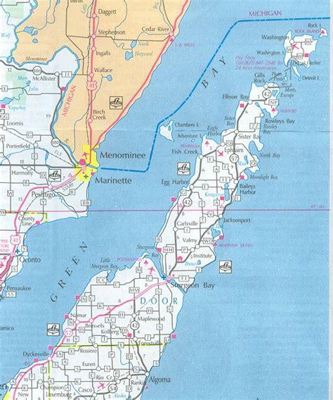 map of door county wi door county map wisconsin wisconsin hotels motels