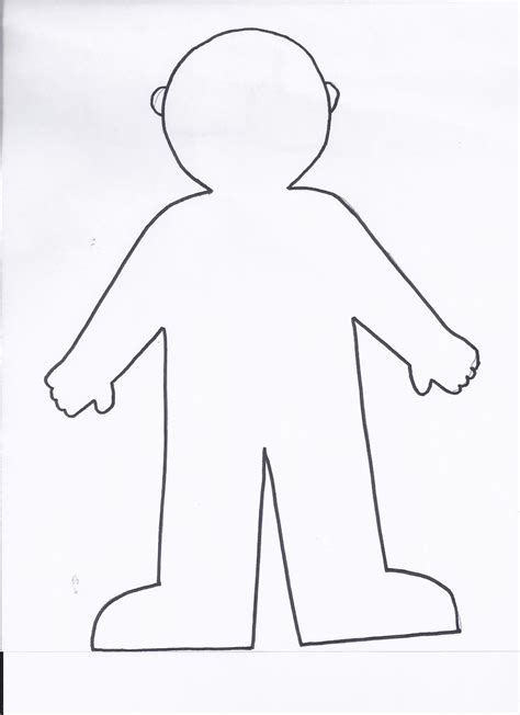 flat stanley coloring page printable coloring pages body template paper doll template flat