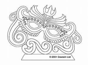 Free Coloring Page Of Mardi Gras Mask