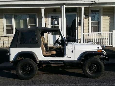 jeep bronco white jeep wrangler suv 1990 white for sale 2j4fy39t8lj546033