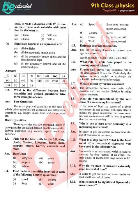 classnotes  class physics notes english medium