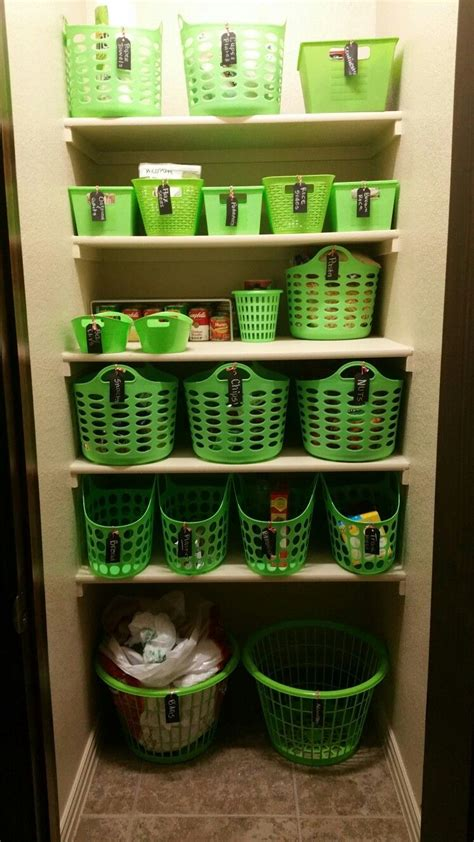 pantry organization  dollar tree baskets  target labels organized   kitchen