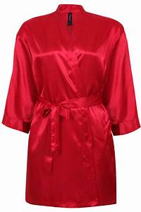DREAMGIRL Red Kimono Robe & Chemise With Padded Hanger