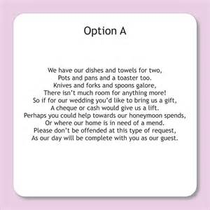 how to ask for money instead of gifts for wedding wedding invitation wording wedding invitation wordings gifts