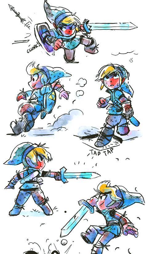 Illustration Art Gaming Cute Fanart Zelda Link Watercolor