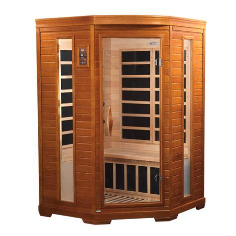 2 mann sauna comet 2 person corner sauna 2 backrests ionizer