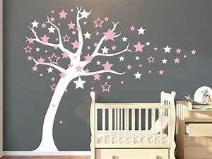 Sterne Deko Kinderzimmer : wandtattoo sternenbaum mit sternschnuppen wandtattoo de ~ Markanthonyermac.com Haus und Dekorationen