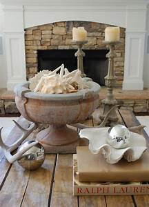 Rustic stone fireplace design ideas for Rustic coastal coffee table
