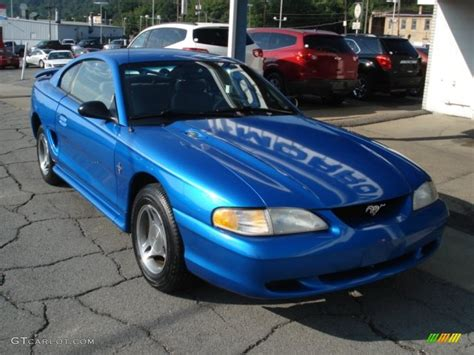 bright atlantic blue  ford mustang  coupe exterior