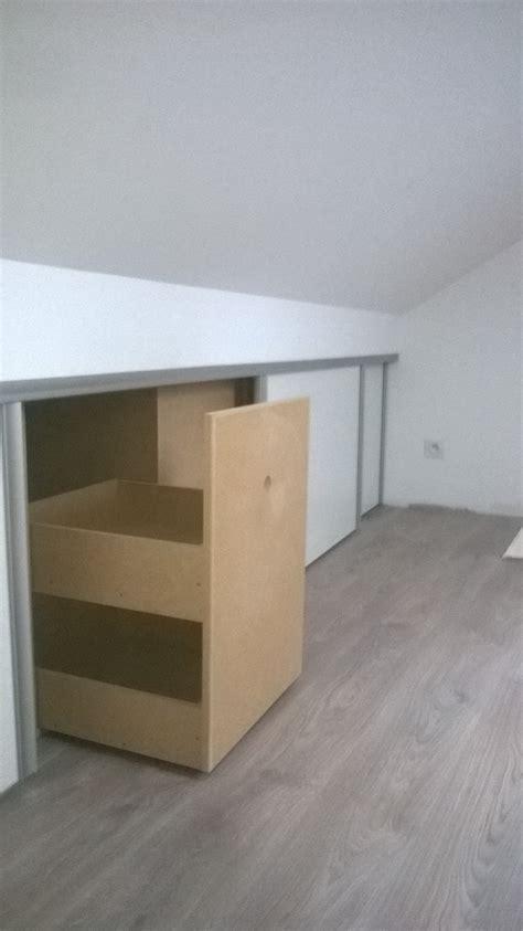 placard intégré chambre nbc bois placard intégré en sous pente