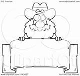 Miner Prospector Clipart Banner Cartoon Coloring Parchment Chubby Cory Thoman Outlined Vector sketch template