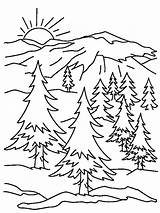 Coloring Trail Oregon Pages Mountains Getcolorings Print Printable sketch template