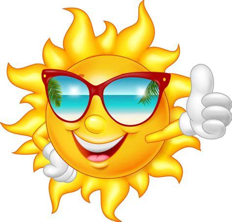 Premium Vector   Cartoon smiling sun giving thumb up