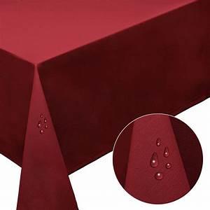 Tischdecke Rund 160 : tischdecke 160 cm rund rot beschichtete baumwolle fleckschutz ~ Orissabook.com Haus und Dekorationen
