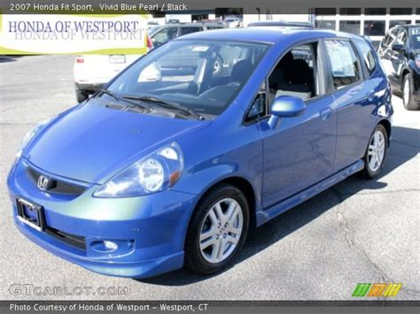 Besides good quality brands, you'll also find plenty of discounts when you shop for 2007 honda fit during big sales. Vivid Blue Pearl - 2007 Honda Fit Sport - Black Interior ...