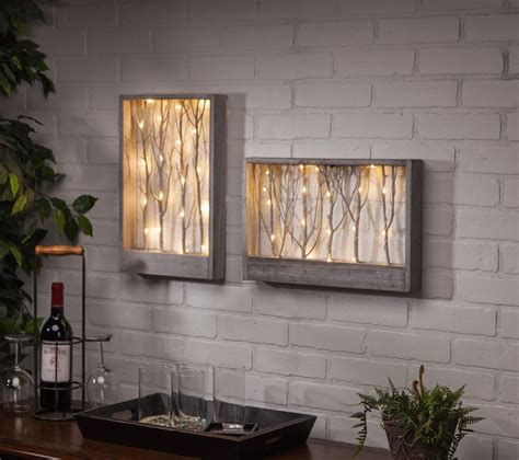 led light wall decor lighted branch wall table decor this lighted wall