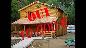 montage maison en rondin youtube With maison en rondin prix