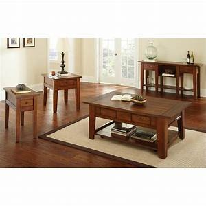 steve silver company desoto 3 piece cocktail table set in With dark oak coffee table sets