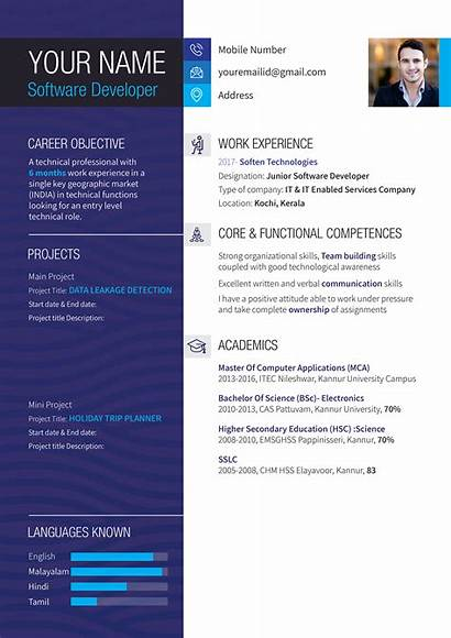 Word Indesign Resume Templates Creative Behance Ms