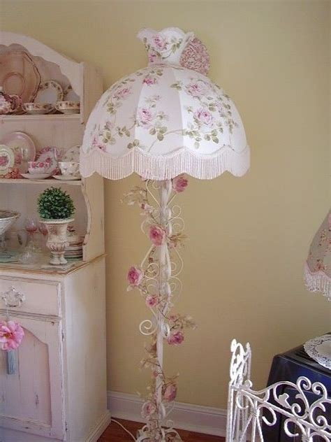 shabby chic lace lamps images  pinterest