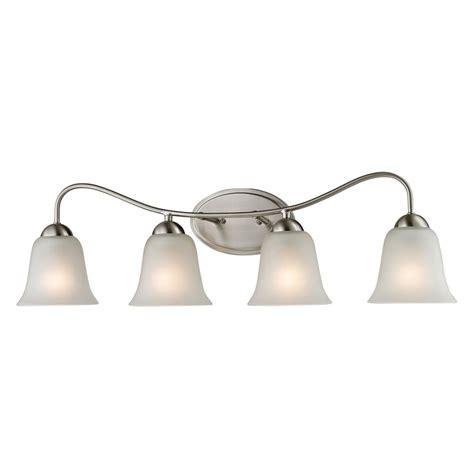 bathroom light fixtures brushed nickel home depot titan lighting 4 light bath bar in brushed nickel the