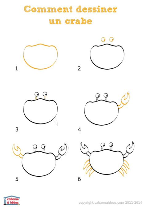 comment dessiner un crabe cabane 224 id 233 es