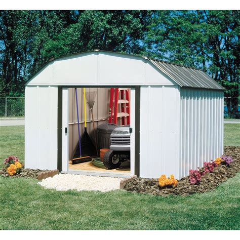 arrow storage sheds sears arrow 10 x 12 barn roof storage building sr1012 lawn