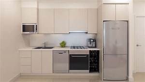These are called straight kitchens as they line up