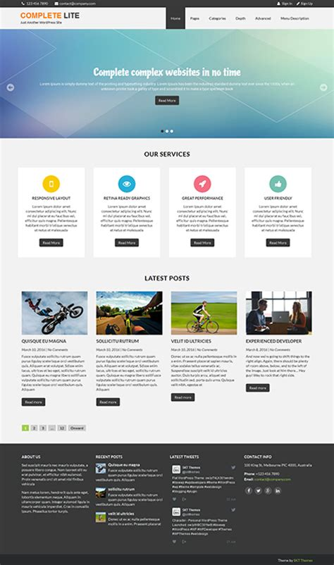 Free Theme 54 Best Responsive Free Themes With Slider