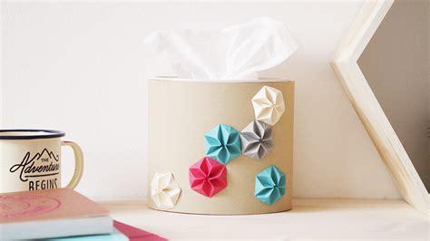 que faire avec une boite de mouchoir vide diy vid 201 o ma boite 224 mouchoir en kraft et origami