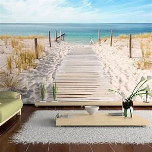 vlies fototapete 3 farben zur auswahl tapeten natur With balkon teppich mit poster tapeten strand