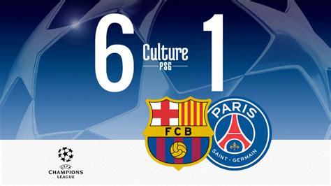 Match : Barça/PSG (6-1), Paris sombre en Catalogne ...