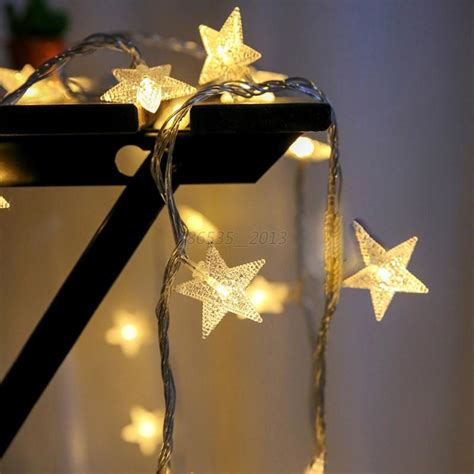 battery operated party lights christmas led star string fairy lights wedding party