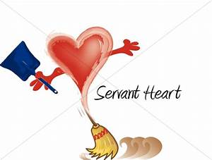 Servant Heart with Broom Women's Ministry Word Art