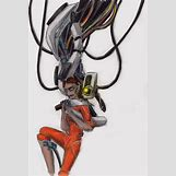 Portal 2 Chell And Glados   800 x 1186 png 1661kB