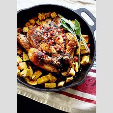 Sage And Garlic Roasted Chicken With Pomegranate And Black