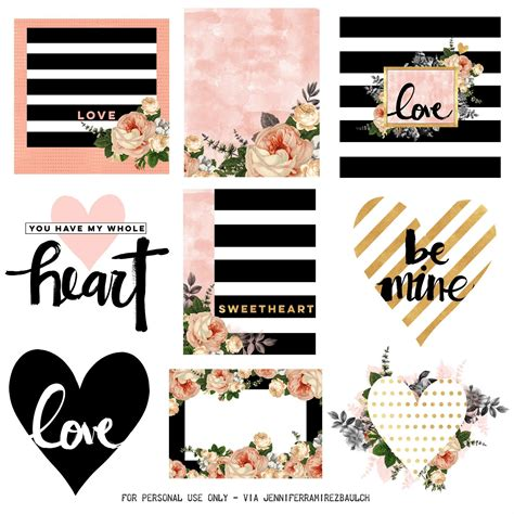 Spread the love throughout your digital planner with these adorable stickers! Free Printable Planner Stickers for Valentine's Day ...